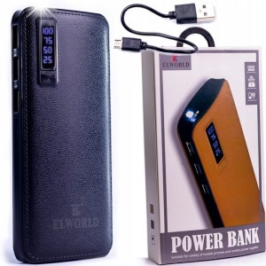 POWER BANK POWERBANK LCD 20000 mAh 3xUSB SKÓRA